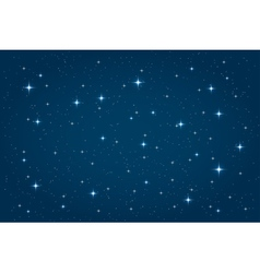 Blue night starry background vector