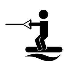 Ski sport isolated icon design vector