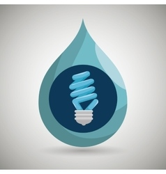 Bulb and ecology isolated icon design vector