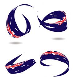 Australia flag ribbon vector
