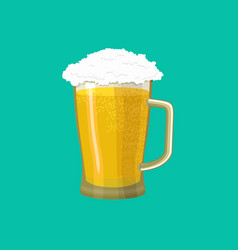 Beer mug isolated pot alcohol foam drink vector