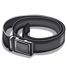 black leather belt vector image vector image