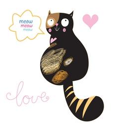 cat in love vector image vector image