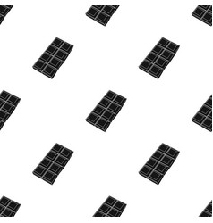 chocolate icon in black style isolated on white vector image