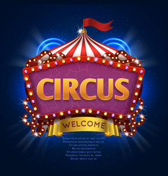 Circus carnival sign with light bulb frame vector