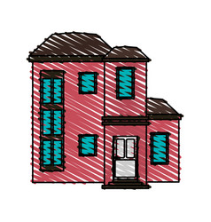 color crayon stripe cartoon facade modern style vector image vector image