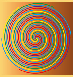 Color spiral on a beige background abstraction 1 vector
