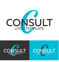 consult logo letter c logo logo template vector image vector image