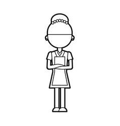 Housekeeper avatar character icon vector