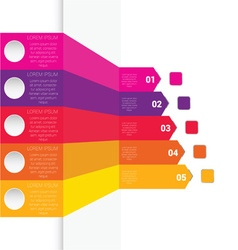 infographic colorful vector image vector image