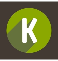 Letter K Logo Flat Icon Style vector image
