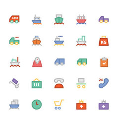 Logistics delivery colored icons 1 vector