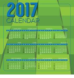 Modern green geometrics 2017 printable calendar vector
