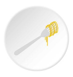 Pasta icon circle vector