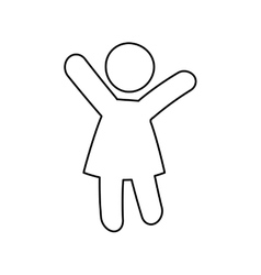 Pictogram concept Person icon flat and isolated vector image vector image