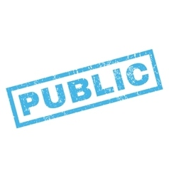Public Rubber Stamp vector image vector image