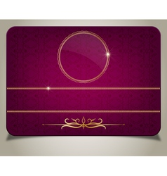 Purple gift card vector image vector image
