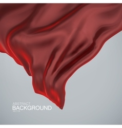 Red silk fabric vector image vector image
