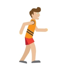 Runner on jog flat style vector