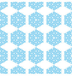Seamless geometric pattern flowers style vector