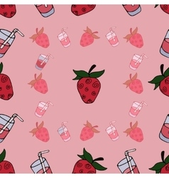 Seamless Pattern with sweet vector image vector image