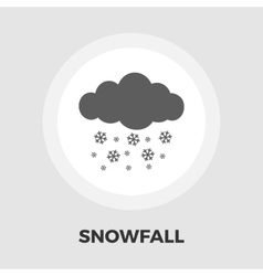 Snowfall flat icon vector