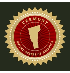 Star label vermont vector