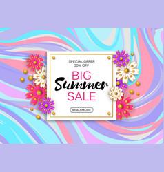 summer sale banner design template vector image vector image