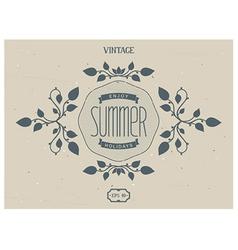 Summer victorian elements vector