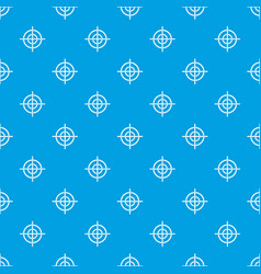 Target crosshair pattern seamless blue vector