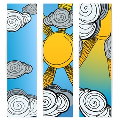 Weather Banners vector image vector image