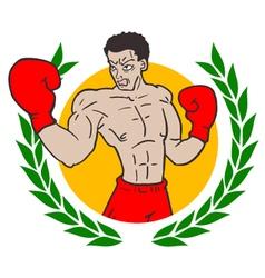 Winner boxing emblem vector