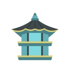 Hexagonal pavilion  south korea icon vector
