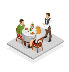 Restaurant meal concept vector