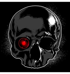 Skull on a black background vector
