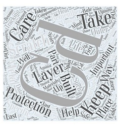 Caring for your cd word cloud concept vector