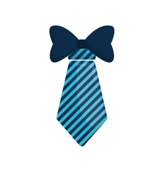 Necktie bowtie elegant father day vector