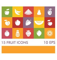 flat icons of different fruits vector image