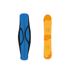 Snowboard with cover flat icon isolated vector