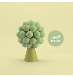 Abstract tree concept for business social media vector