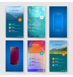 Modern user interface screen template for mobile vector