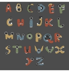 Monster english alphabet shaped as monsters vector
