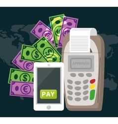 Electronic payment and technology vector