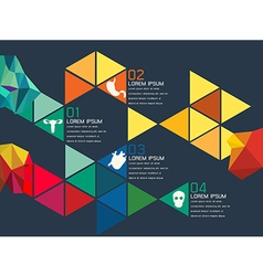 Colorful triangle chart vector