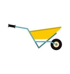 A wheelbarrow full of turf icon vector