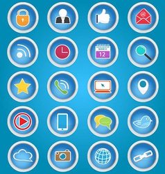 Basic Social Media Icons vector image