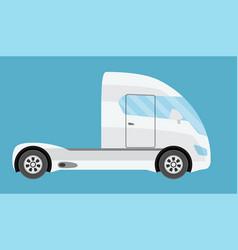 Big electric future commercial semi truck trailer vector