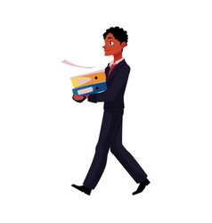 Black african american businessman going vector