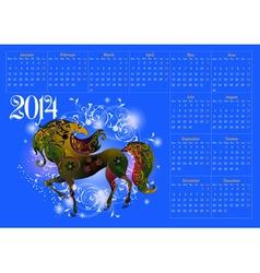 Calendar for 2014 vector image vector image