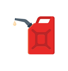 canister of gasoline vector image